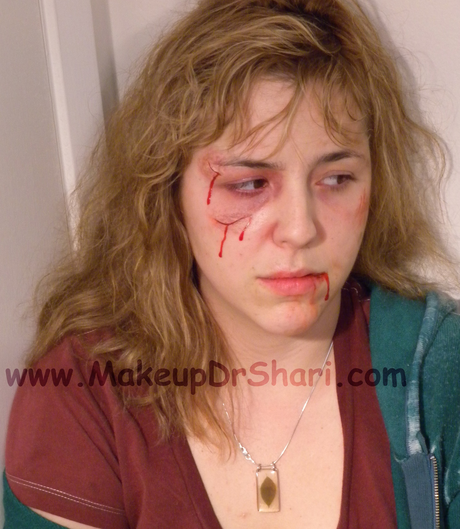 31 Days Of Halloween Makeup U2013 Day 7 Bruise Wheels | Movie Makeup By Makeup Dr. Shari