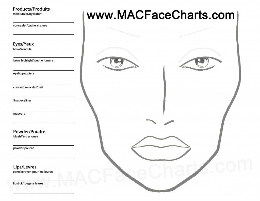 Reasons to use a personalized face chart : Movie Makeup by ...