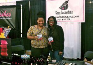 Snog Cosmetics CEO Takyira Washington and coworker