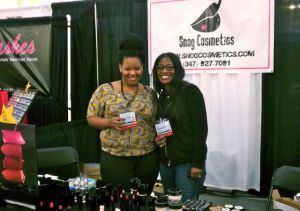 Snog Cosmetics CEO Takyira Washington and coworker